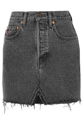 VETEMENTS x LEVI'S + Levi's frayed denim mini skirt