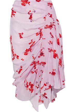 "PREEN LINE تنورة ""ميرتيلدا"" غير متماثلة من قماش كريب دي شين المطبع بالورود"