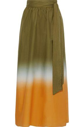 IRIS & INK Bryn dégradé cotton-broadcloth maxi wrap skirt