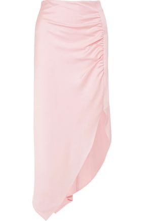 PETER PILOTTO Ruched satin midi skirt