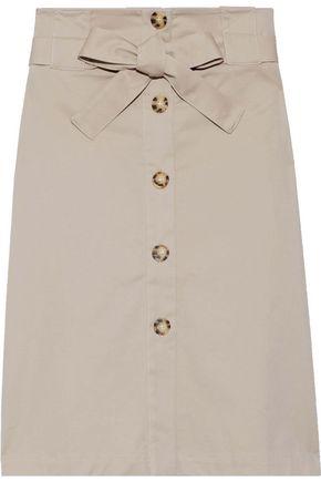 IRIS & INK Cerise stretch-cotton pencil skirt