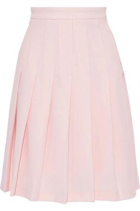IRIS & INK Camellia pleated twill skirt