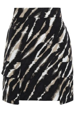 HOUSE OF HOLLAND Tie-dyed cotton-jacquard mini skirt