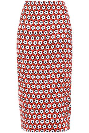 DIANE VON FURSTENBERG Kara printed cady pencil skirt