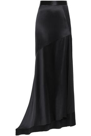 MICHAEL LO SORDO Imperial asymmetric silk-satin maxi skirt
