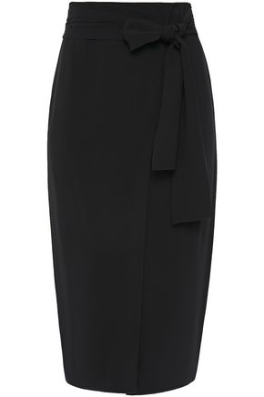 ROCHAS Wrap-effect stretch-crepe pencil skirt