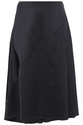 NINA RICCI Satin-crepe skirt