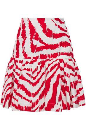 MSGM Fluted jacquard mini skirt