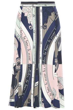 TORY BURCH Constellation printed crepe-jersey skirt