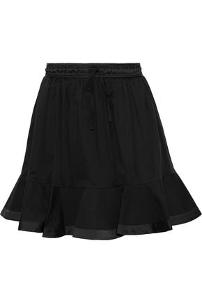 REBECCA MINKOFF Evaline canvas-paneled cotton mini skirt