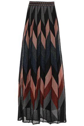 M MISSONI Metallic knitted maxi skirt