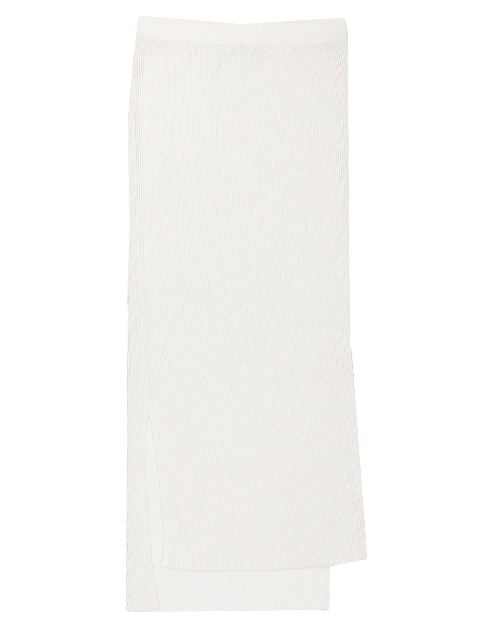 《セール開催中》GENTRYPORTOFINO レディース 7分丈スカート ホワイト 40 シルク 95% / ポリエステル 5%