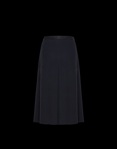 SKIRT Black Category Knee length skirts Woman