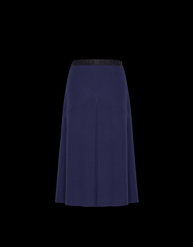 SKIRT Dark blue Category Knee length skirts Woman