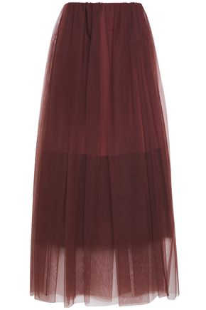 BRUNELLO CUCINELLI Gathered tulle maxi skirt
