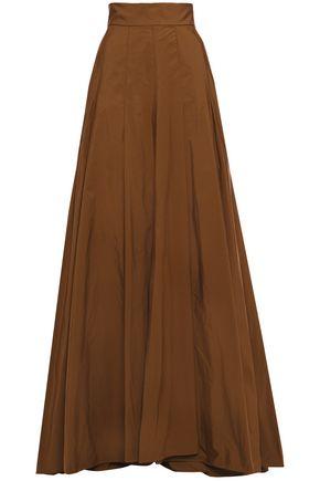 BRUNELLO CUCINELLI Flared pleated taffeta maxi skirt