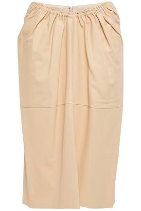 JIL SANDER Gathered leather skirt