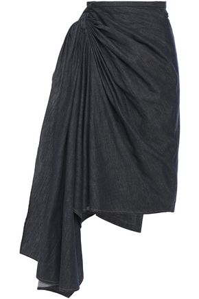BRUNELLO CUCINELLI Layered denim wrap skirt