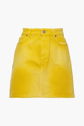 GANNI Tie-dyed denim mini skirt