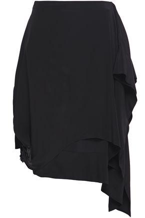 JW ANDERSON Asymmetric draped crepe de chine skirt