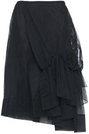SIMONE ROCHA Asymmetric ruched tulle skirt