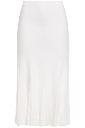 THEORY Prosecco pleated ponte skirt