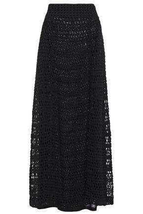 THEORY Crochet-knit cotton-blend maxi skirt