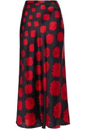 MARNI Printed satin-crepe midi skirt