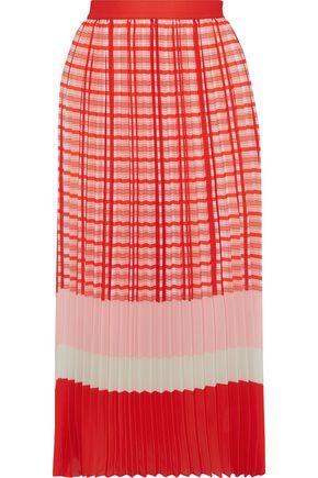 IRIS & INK Chrysanta pleated printed crepe midi skirt