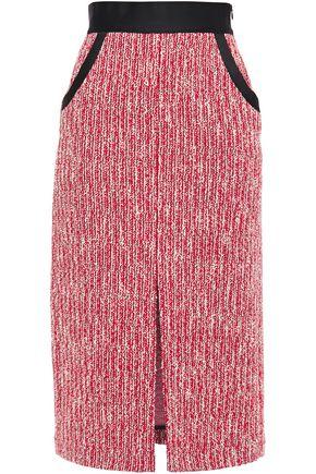 MAJE Split-front bouclé midi pencil skirt