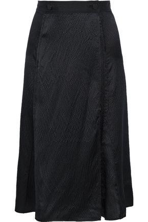 RAG & BONE تنورة ملتفة من الحرير النافر