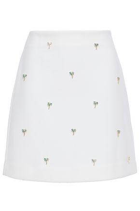 MAJE Jalmi embellished stretch-crepe mini skirt