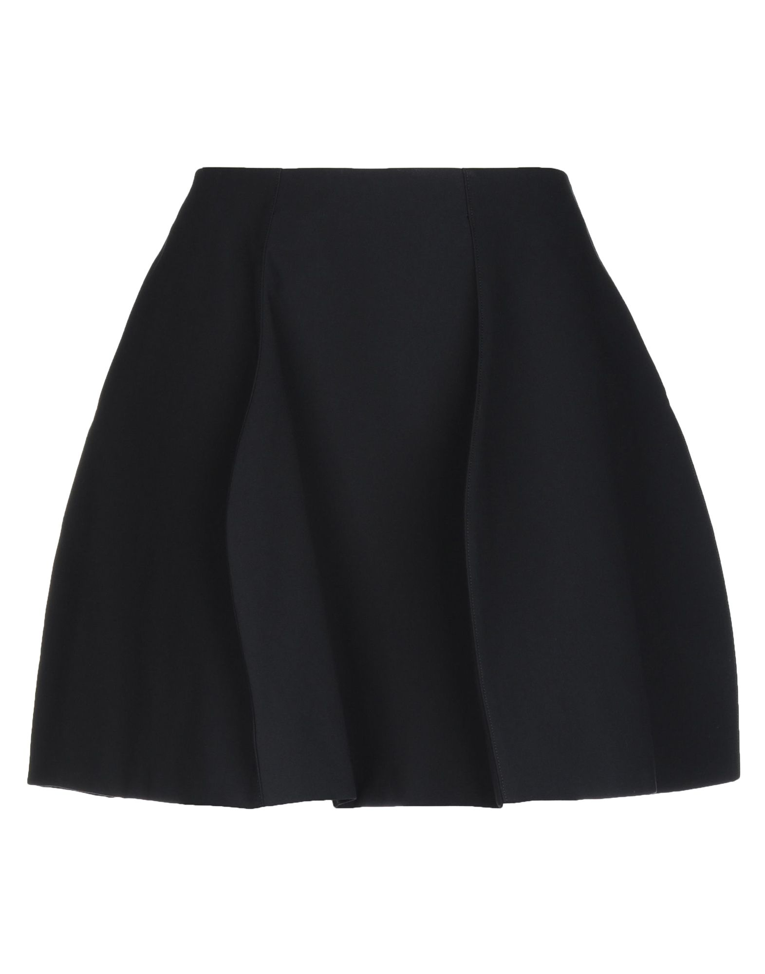 JIL SANDER Mini skirts. twill, folds, basic solid color, no pockets, side closure, snap button fastening, fully lined, large sized. 100% Cotton