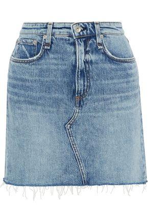 RAG & BONE Hayden distressed denim mini skirt