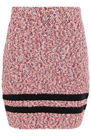 RAG & BONE Halstead striped cotton-blend bouclé mini skirt
