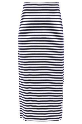 NINETY PERCENT Striped stretch-Tencel jersey midi skirt