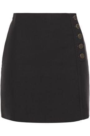BA&SH Button-detailed cotton-blend mini skirt