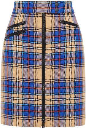 RAG & BONE Checked woven mini skirt