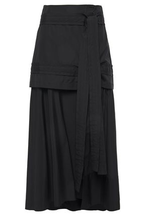3.1 PHILLIP LIM Asymmetric layered cotton-poplin midi skirt