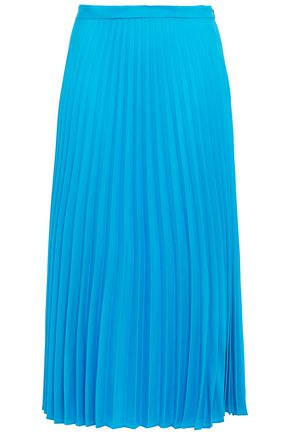 CHINTI & PARKER Pleated crepe de chine midi skirt