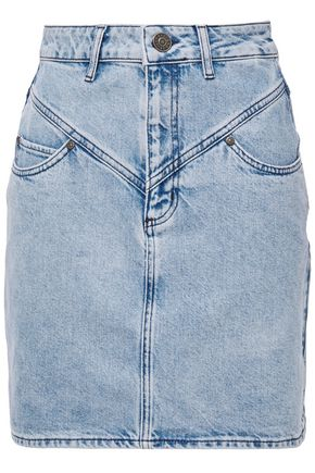 SANDRO Denim mini skirt