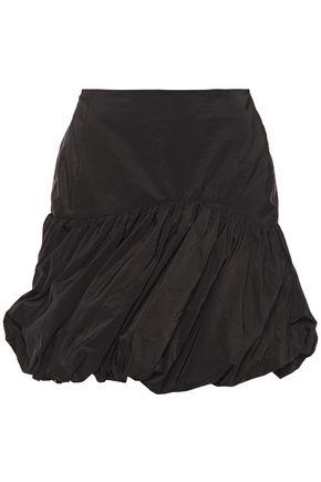 BLOUSE Gathered taffeta mini skirt