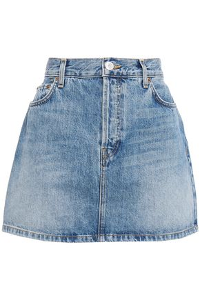 RE/DONE Faded denim mini skirt