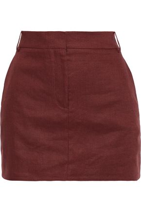 TIBI Linen-canvas mini skirt