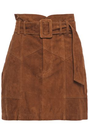 MARISSA WEBB Claire belted suede mini skirt