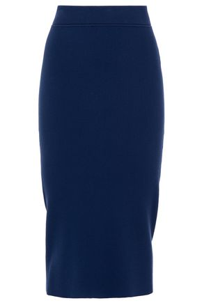 MICHAEL KORS COLLECTION Ribbed-knit pencil skirt