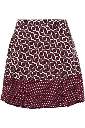 MICHAEL MICHAEL KORS Fluted printed georgette mini skirt