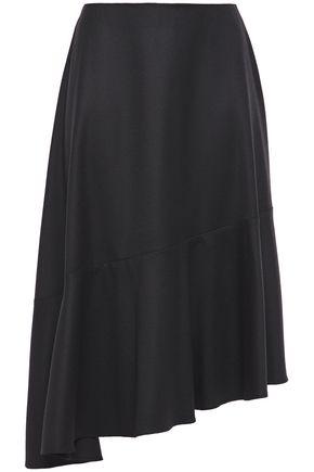 CARVEN Asymmetric wool-twill skirt
