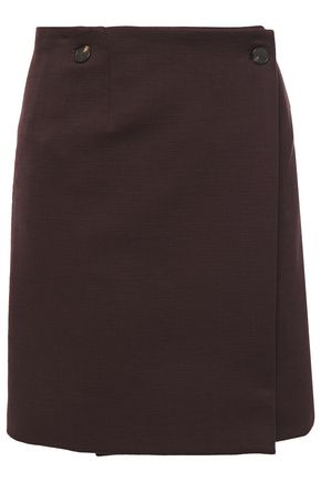CARVEN Cotton mini wrap skirt