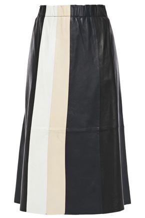 STAND STUDIO Eliana color-block leather skirt